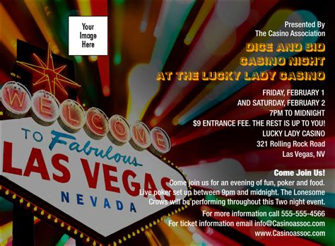 Las Vegas Casino Invitation Free Vegas Themed Invitation Templates