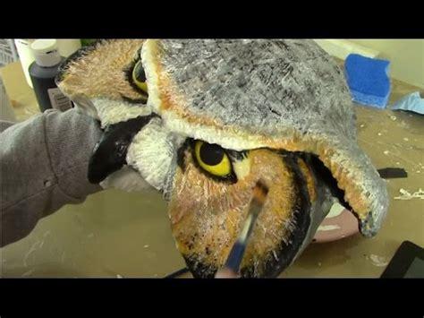 How To Make A Paper Mache Owl - make a paper mache owl mask part 1