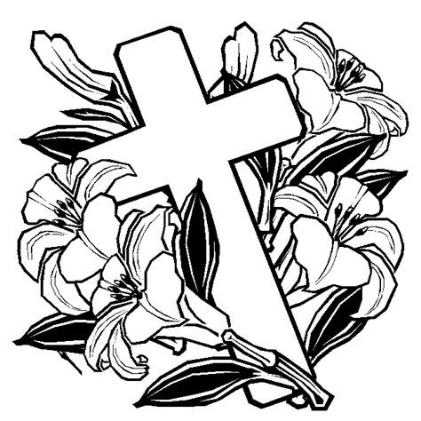 free coloring page easter cross clipart best clipart best