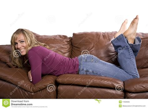 feet on couch woman on couch feet up stock image image of laying cute