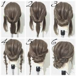 easy messy buns for shoulder length hair best 25 simple updo ideas on pinterest