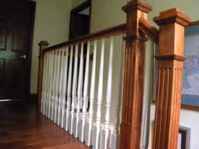 Stair Rail Post by Wood Stairs And Rails And Iron Balusters Maple Victorian