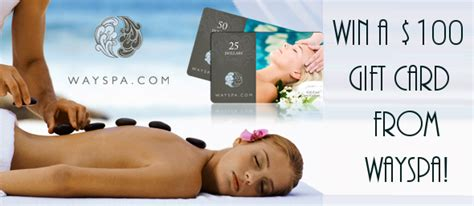 Way Spa Gift Card Canada - win a 100 gift card from wayspa canada