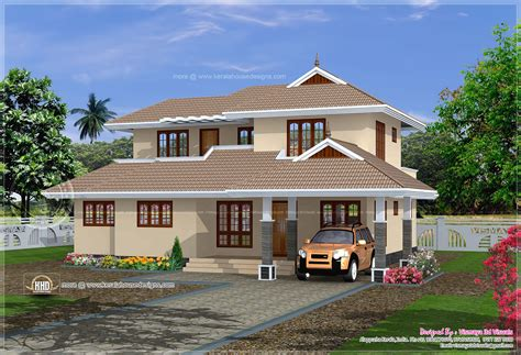 1819 Sq Ft Simple Kerala Home Plan Kerala Home Design And Floor Plans
