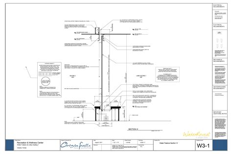 water feature section indoor waterfall design design a custom water feature