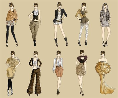 fashion design of clothes fashion collection autumn 2011 by lousasa on deviantart