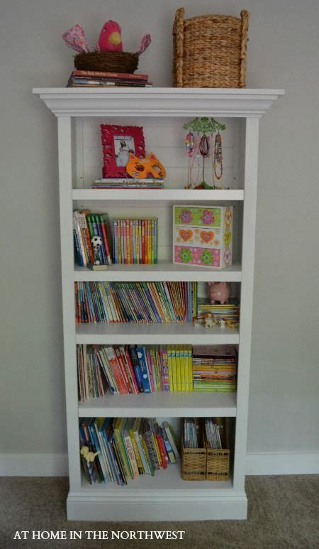 bookcase with crown molding add crown molding to a simple bookshelf at home in the