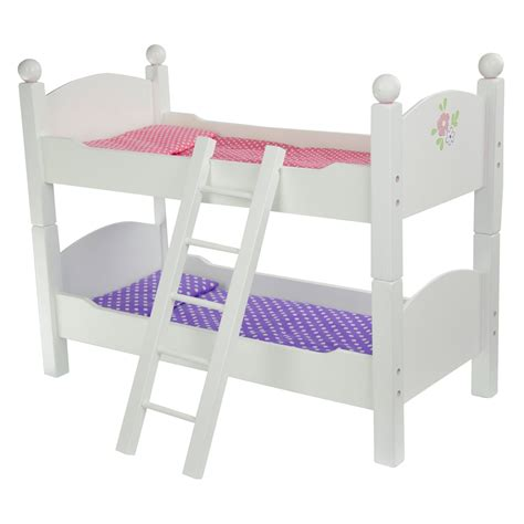 baby doll bunk beds teamson kids little princess doll double bunk bed baby