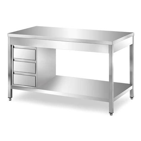 tavolo inox tavoli inox su gambe con cassettiera oi