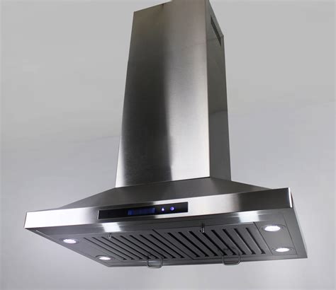hood vent 36 quot island mount ductless ventless stainless steel range