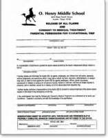 field trip permission forms