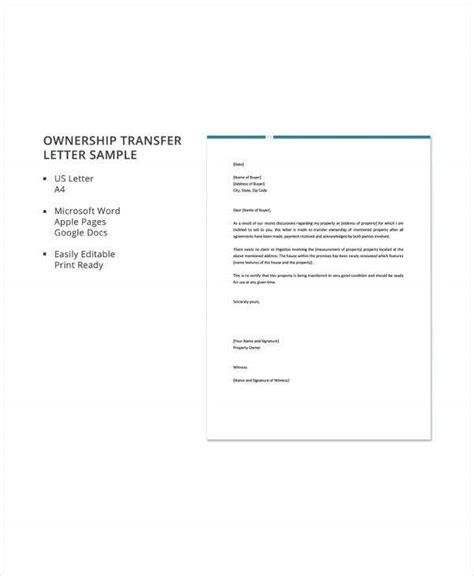ownership transfer letter templates apple