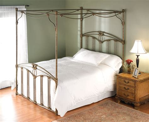 Wrought Iron Canopy Bed Description