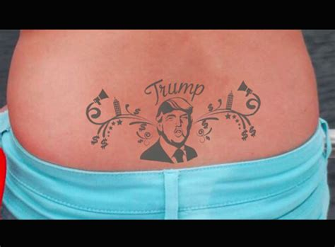 trump stamp tattoo based on quot tramp stamp quot honors donald