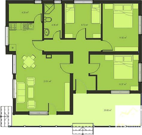 3 bed house floor plan plans dezignes more wood bench house plans 3 bedroom