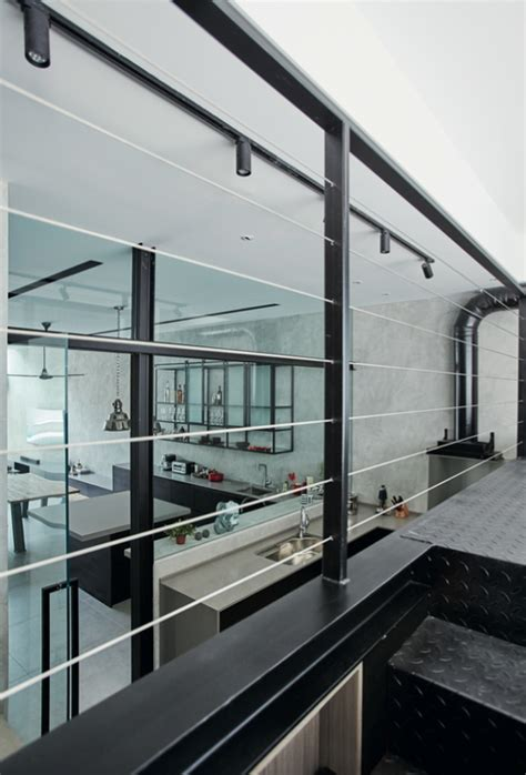 house tour 100 000 industrial chic look in this four house tour industrial style terrace house in thomson with