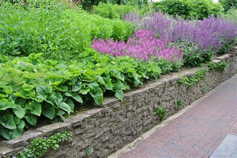 verhoogde tuin verhoogde borderrand muurtje van gebroken stoeptegels