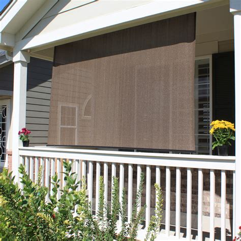 Outdoor Blinds For Porch Blinds Exterior Solar Shades Traditional Porch