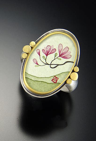 Magnolia Ring by Magnolia Ring By Ananda Khalsa Gold Ring Artful Home