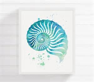 Seashell Bathroom Accessories watercolor seashell seashell art seashell print sea shell