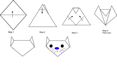 Easy Origami Cat - bowers origami for