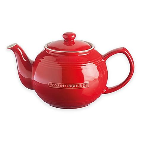 bed bath and beyond teapot buy mason cash 174 ceramic teapot and infuser in red from bed