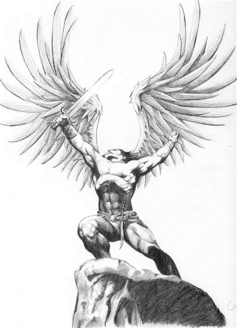 angel warrior tattoo designs warrior by cirker on deviantart