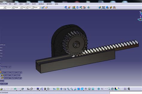 rack and pinion catia other 3d cad model grabcad