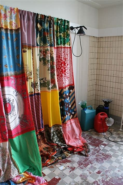 thrift store curtains dishfunctional designs how to upcycle thrift shop finds