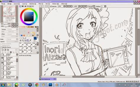 aplikasi untuk membuat foto menjadi kartun di pc animanga otaku live paint tool sai software praktis