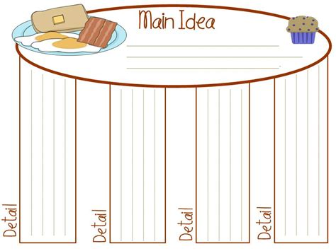 idea organizer free graphic organizers main idea and detail table is