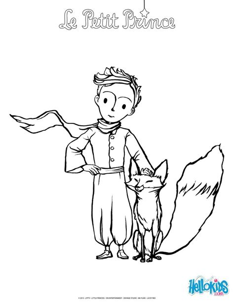 the fox and the little prince coloring pages hellokids com
