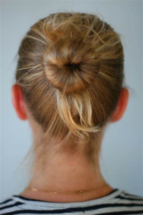 diy hair bun with sock diy sock bun say yes