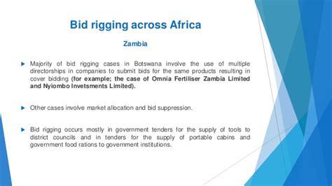 bid rigging the basics of bid rigging