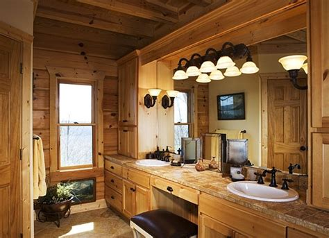 Rustic Cabin Bathroom Ideas by Une Salle De Bain Dans Votre Chalet En Bois Non Class 233