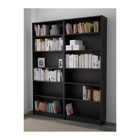 billy bookcase black brown 160x202x28 cm ikea