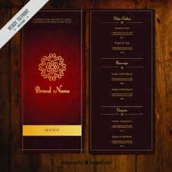 Indian Restaurant Menu Template by Restaurant Vectors Photos And Psd Files Free