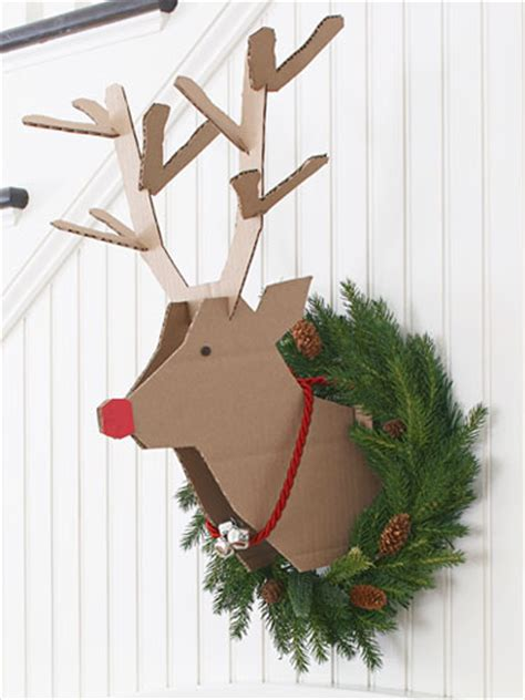 diy cardboard deer template recycled cardboard reindeer crafts