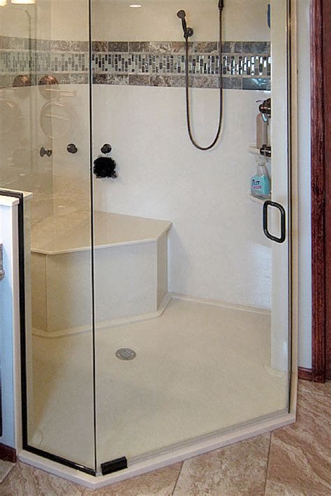 Corner Shower Units With Seat How To Choose The Right Accessories For A Solid Surface Shower