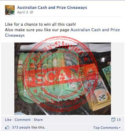 Cash Prize Giveaways - like farming scam australian cash and prize giveaways facebook page