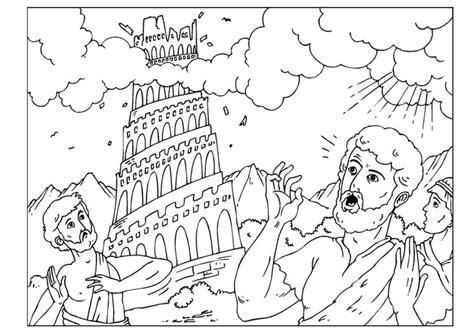 coloring page for tower of babel la torre de babel para colorear