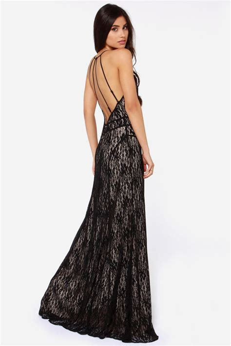 Longdress Diana Back black dress maxi dress lace dress backless dress