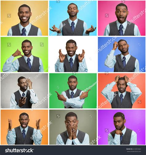 swing of emotions man mood behavior changes swings collage stock photo