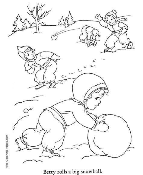 winter coloring pictures snow day fun 24