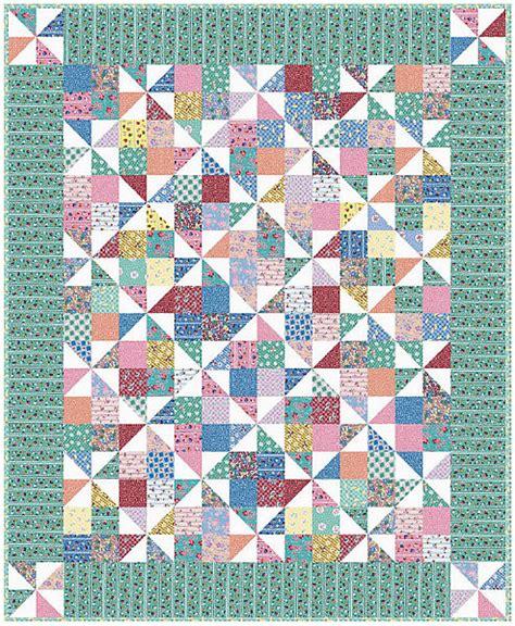 Pinwheel Quilt Pattern by Pinwheel Fancy Quilt Free Pattern Robert Kaufman Fabric