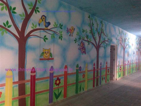 wall painting images play school wall painting 3d cartoon painting school