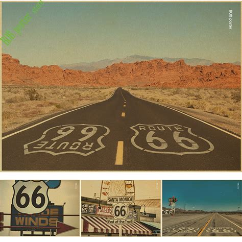 Route 66 Home Decor Vintage Home Decor Mother Road Tin Sign Route 66 No 66