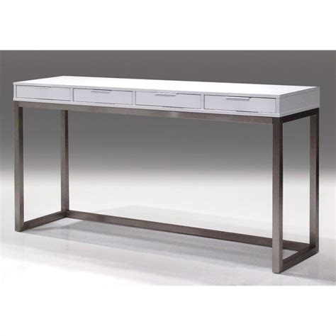 High Console Table Mobital Palco Sofa Table In High Gloss White Wso Palc Whit Puop