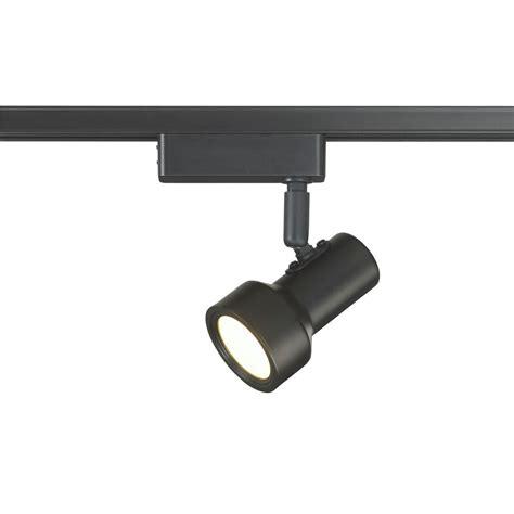 home depot track lighting led 4 light black bullet led track lighting 18814 000 the