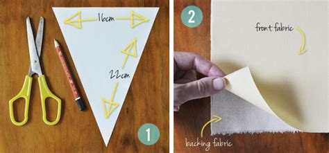 How To Make A Paper Flag - the painted hive diy fabric bunting flags tutorial